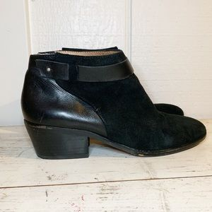 Madewell The Charley Stud Suede Black Bootie sz 8